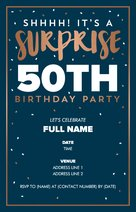 Milestone Birthday Invitations Announcements Templates Designs