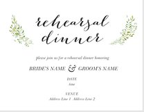 rehearsal dinner invitations announcements templates designs