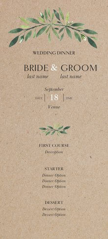 Wedding Menu Template.Dinner Menus Templates Designs Vistaprint