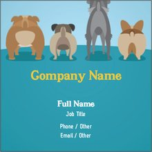 Pet Sitting Dog Walking Square Business Cards Templates Designs