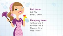 Cleaning services standard business cards templates designs 3 colourmoves
