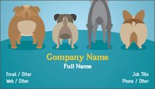 Pet sitting dog walking standard business cards templates upload it colourmoves
