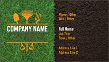 Landscaping gardening standard business cards templates designs upload it flashek
