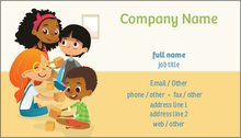 upload it - Daycare Business Cards