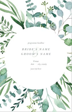 watercolor wedding programs templates designs vistaprint