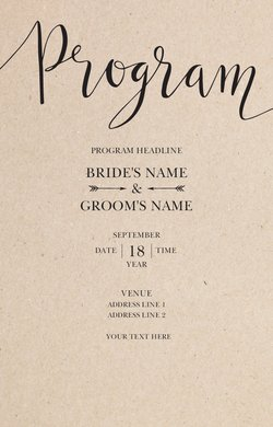 Wedding Programs Templates Designs Vistaprint - Wedding program cover templates