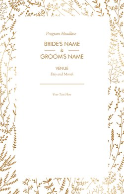 wedding programs templates designs vistaprint