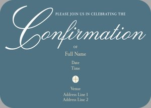 Confirmation Invitations For Twins
