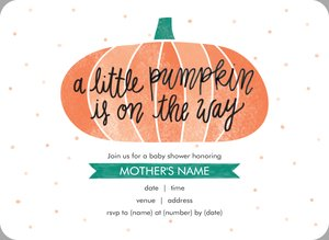 Pumpkin Invitations Vistaprint