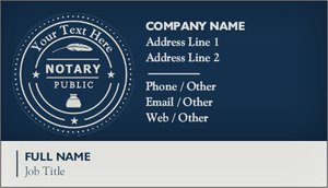 Notary Business Cards Vistaprint