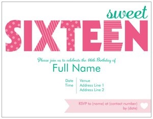 16th birthday invitations vistaprint