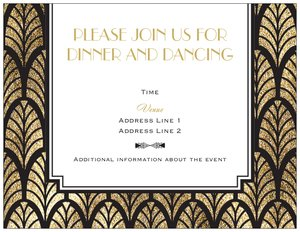Art Deco Wedding Invitations Vistaprint