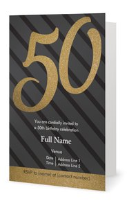 50th Birthday Party Invitations