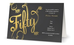 Golden Wedding Invitations Vistaprint