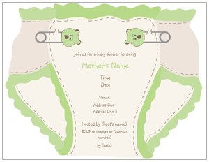 Diaper Shower Invitations Vistaprint
