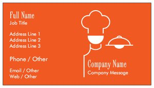 Catering Business Cards Food Beverage