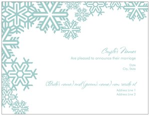 snowflake invitations vistaprint