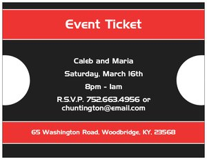 business event invitations vistaprint