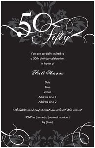 50th birthday party invitations vistaprint