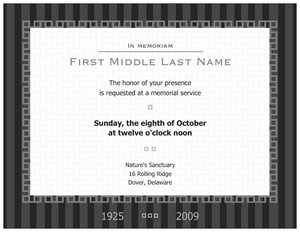 memorial invitations vistaprint