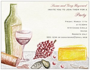 wine party invitations vistaprint