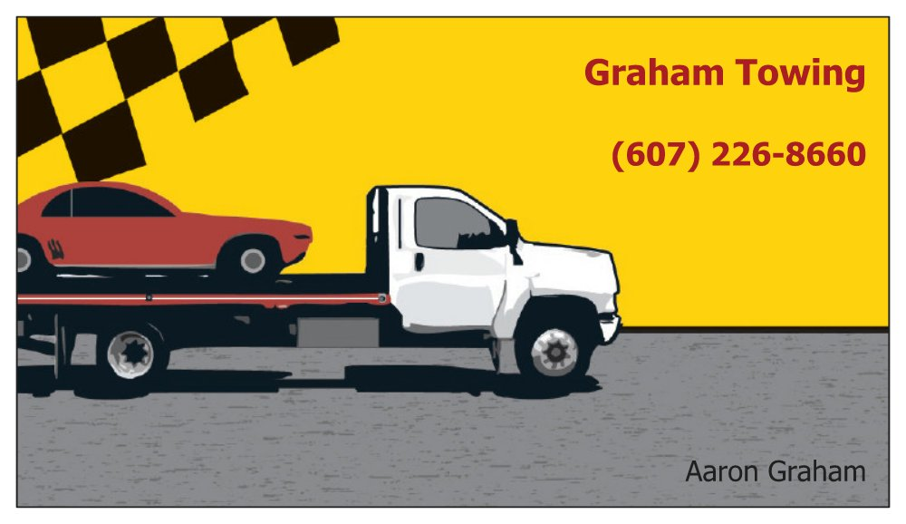 Graham Towing Business Card.