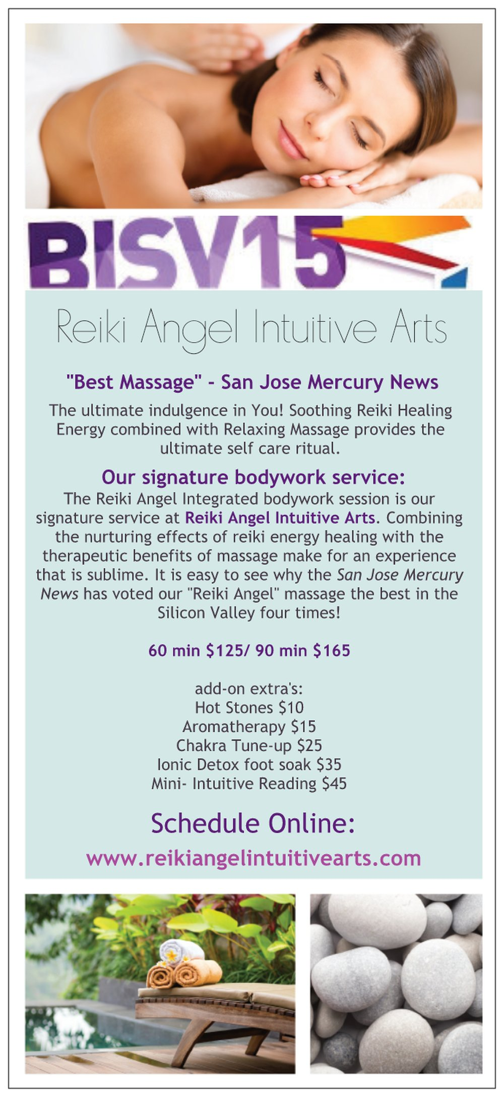 """Best Massage"" in Silicon Valley 2015- San Jose Mercury News!"