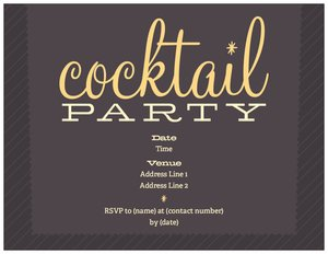 cocktail party invitations - Dinners & Cocktails