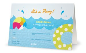 pool party invitations - Beach & Pool