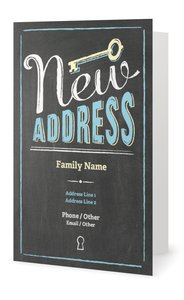 chalkboard wedding invitations - Moving Announcements