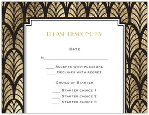 art deco wedding invitations - Generic Style Design