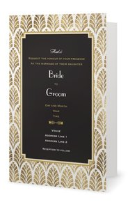 gold wedding invitations - Elegant
