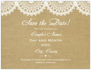 DIY wedding invitations - Save the Date