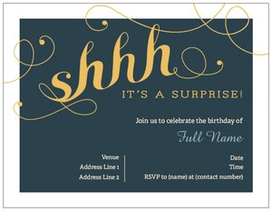 surprise party invitations - Adult Birthday