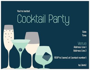 cocktail party invitations - Stag & Hen Parties