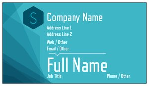 business card design ideas - Bold