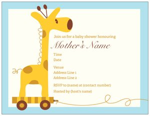 cute invitations - Baby Shower