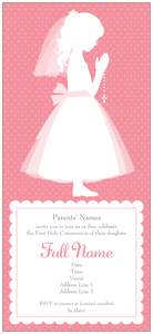 baby shower invitations for girls - First Communion