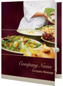Conference Event Program Folders - Food & Beverage