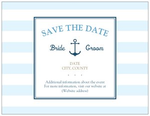 Beach wedding invitation - Save the Date