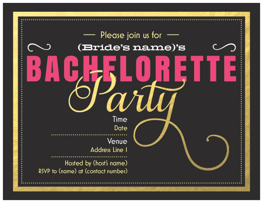 Cheap Bachelorette Party Invitations