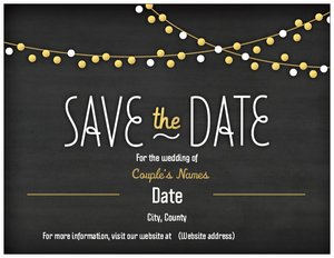 chalkboard wedding invitations - Save the Date