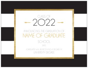 gold wedding invitations - Graduation Announcements