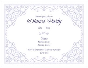 elegant invitations - Dinners & Cocktails