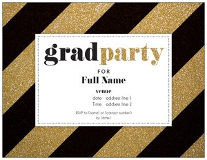 gold wedding invitations - Graduation Party