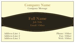 Professional business cards - Conservative