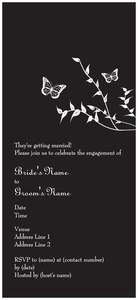 Butterfly wedding invitations - Generic Style Design