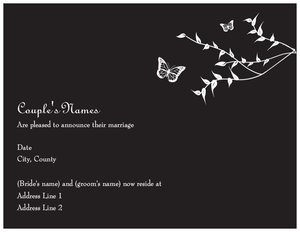 Butterfly wedding invitations - Announcements