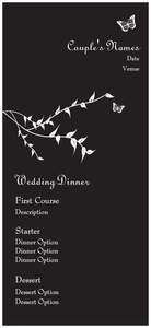 Butterfly wedding invitations - Menus