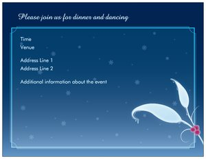 christmas invitation -
